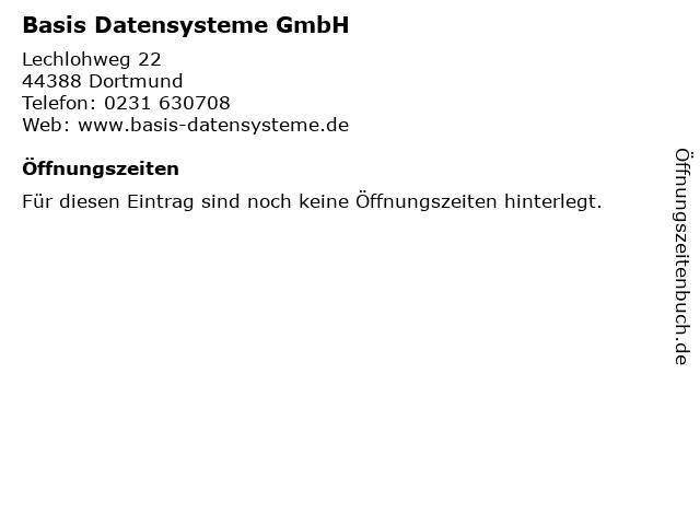 Basis Datensysteme GmbH in Dortmund: Adresse und Öffnungszeiten