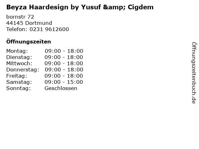 Beyza Haardesign by Yusuf & Cigdem in Dortmund: Adresse und Öffnungszeiten
