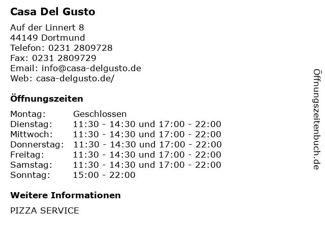 Casa Del Gusto in Dortmund: Adresse und Öffnungszeiten
