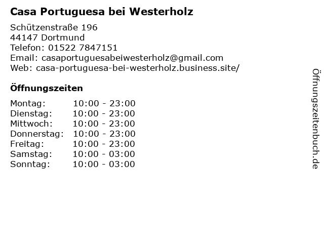 Casa Portuguesa bei Westerholz in Dortmund: Adresse und Öffnungszeiten