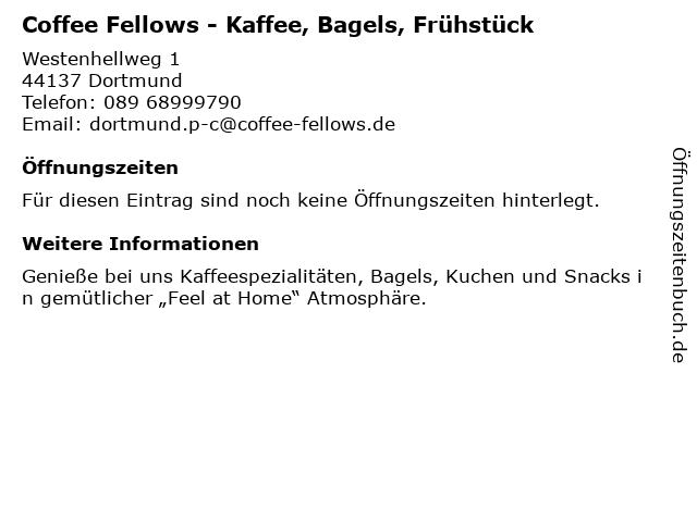 Coffee Fellows GmbH in Dortmund: Adresse und Öffnungszeiten