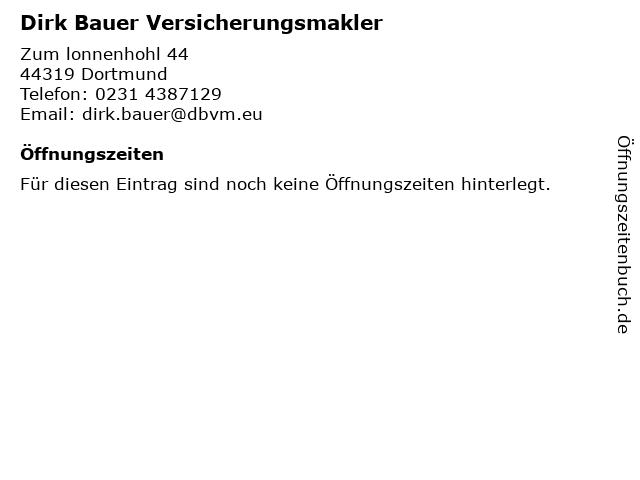 SIGNAL IDUNA Dirk Bauer in Dortmund: Adresse und Öffnungszeiten