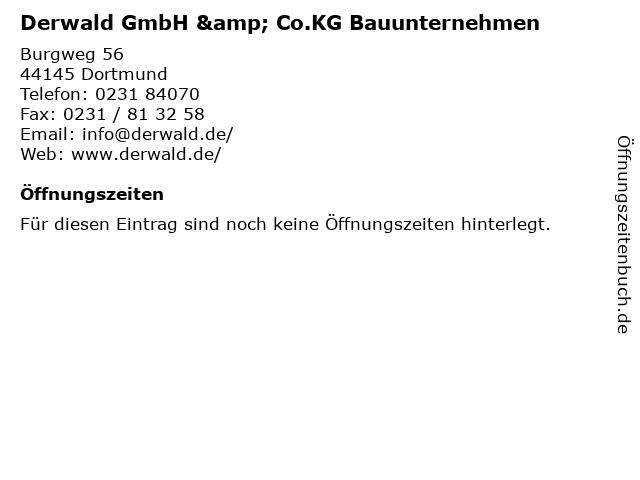 Derwald GmbH & Co.KG Bauunternehmen in Dortmund: Adresse und Öffnungszeiten