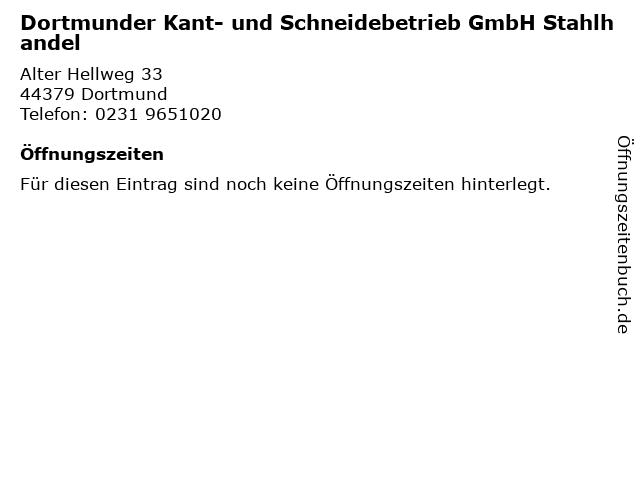 Dortmunder Kant- und Schneidebetrieb GmbH Stahlhandel in Dortmund: Adresse und Öffnungszeiten
