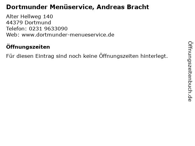 Dortmunder Menüservice, Andreas Bracht in Dortmund: Adresse und Öffnungszeiten