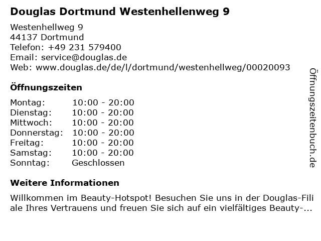 Douglas Dortmund Westenhellenweg 9 in Dortmund: Adresse und Öffnungszeiten