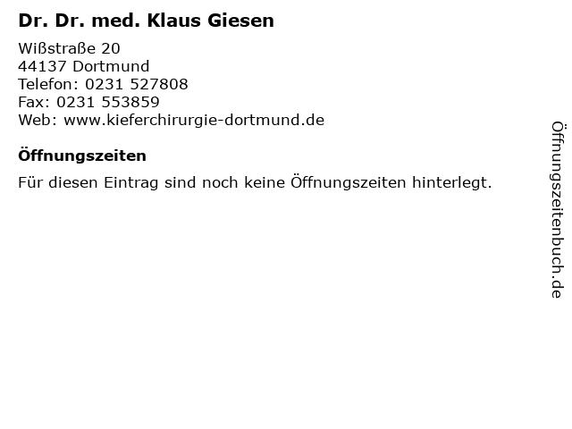 Dr. Dr. med. Klaus Giesen in Dortmund: Adresse und Öffnungszeiten