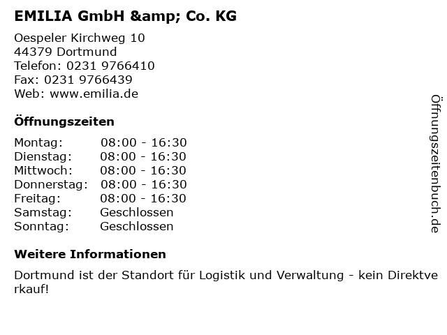 EMILIA GmbH & Co. KG in Dortmund: Adresse und Öffnungszeiten