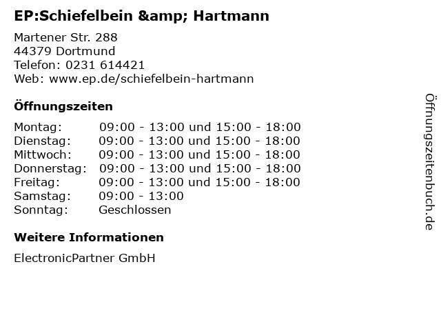 EP:Schiefelbein & Hartmann in Dortmund: Adresse und Öffnungszeiten