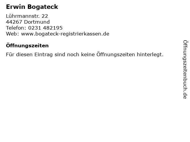 Erwin Bogateck in Dortmund: Adresse und Öffnungszeiten