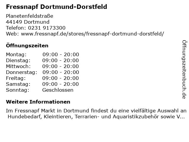 Fressnapf Dortmund-Dorstfeld in Dortmund: Adresse und Öffnungszeiten