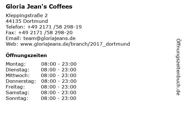 Gloria Jean's Coffees in Dortmund: Adresse und Öffnungszeiten