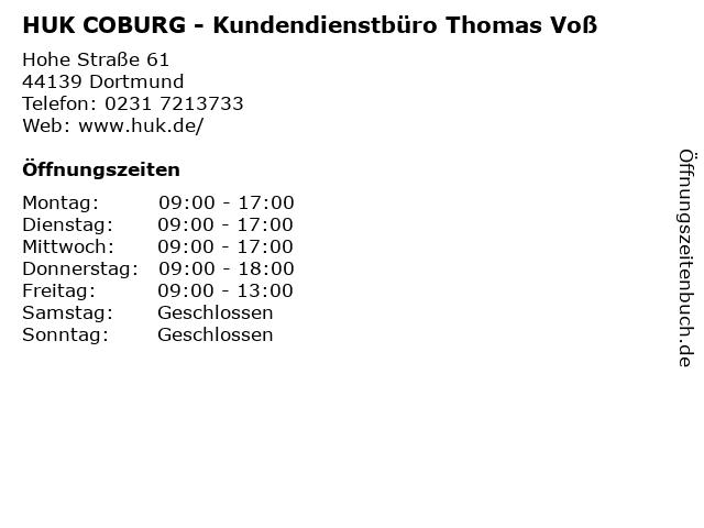 ᐅ Offnungszeiten Huk Coburg Kundendienstburo Thomas Voss