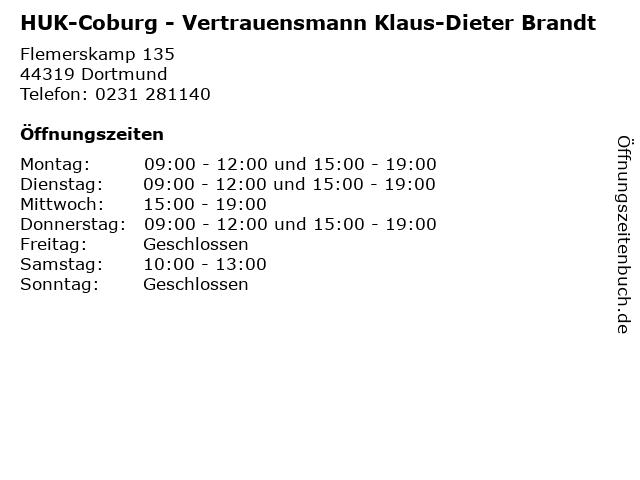 ᐅ Offnungszeiten Huk Coburg Vertrauensmann Klaus Dieter