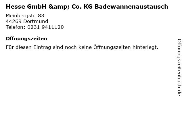 Hesse GmbH & Co. KG Badewannenaustausch in Dortmund: Adresse und Öffnungszeiten