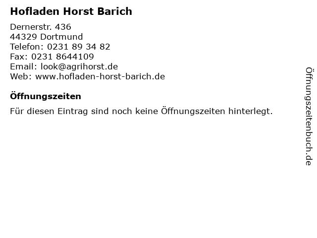 Hofladen Horst Barich in Dortmund: Adresse und Öffnungszeiten
