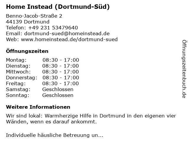Home Instead Seniorenbetreuung (Dortmund-Süd) in Dortmund: Adresse und Öffnungszeiten