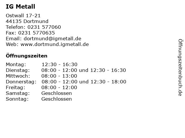 IG Metall in Dortmund: Adresse und Öffnungszeiten