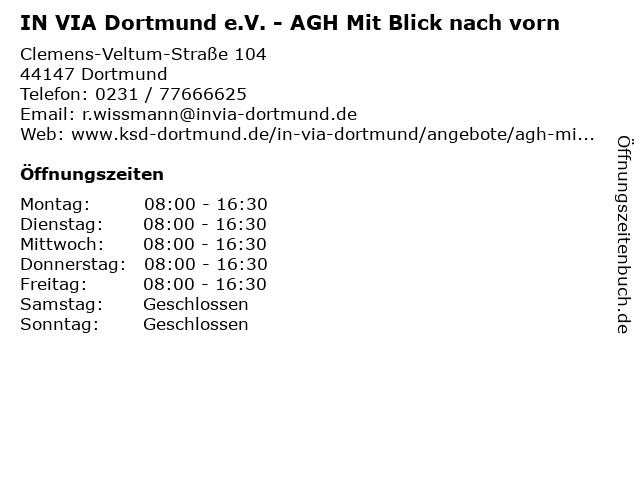 IN VIA Dortmund e.V. - AGH Mit Blick nach vorn in Dortmund: Adresse und Öffnungszeiten