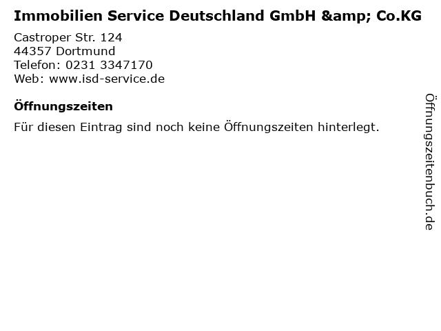 Immobilien Service Deutschland GmbH & Co.KG in Dortmund: Adresse und Öffnungszeiten