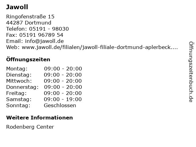 Jawoll in Dortmund: Adresse und Öffnungszeiten
