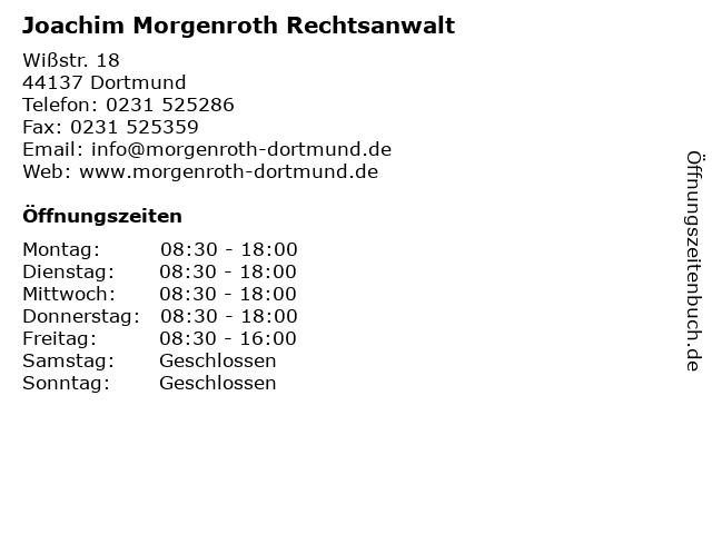 Joachim Morgenroth Rechtsanwalt in Dortmund: Adresse und Öffnungszeiten