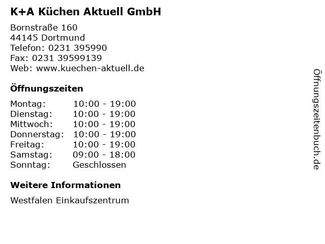 ᐅ Offnungszeiten K A Kuchen Aktuell Gmbh Bornstrasse 160 In Dortmund
