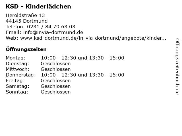 KSD - Kinderlädchen in Dortmund: Adresse und Öffnungszeiten