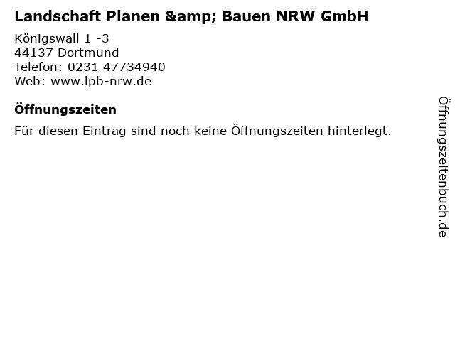 Landschaft Planen & Bauen NRW GmbH in Dortmund: Adresse und Öffnungszeiten