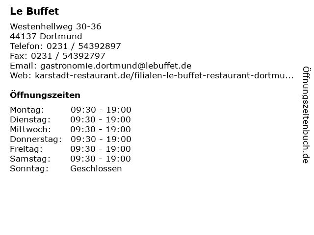 Le Buffet in Dortmund: Adresse und Öffnungszeiten