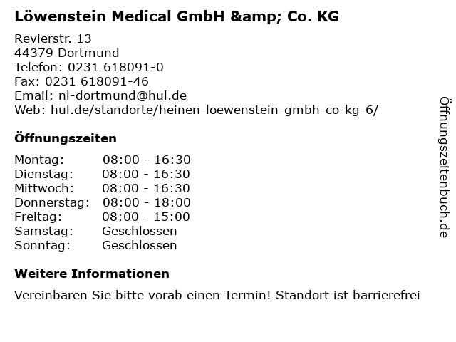 Löwenstein Medical GmbH & Co. KG in Dortmund: Adresse und Öffnungszeiten