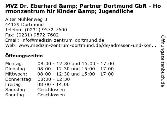 MVZ Dr. Eberhard & Partner Dortmund GbR - Hormonzentrum für Kinder & Jugendliche in Dortmund: Adresse und Öffnungszeiten