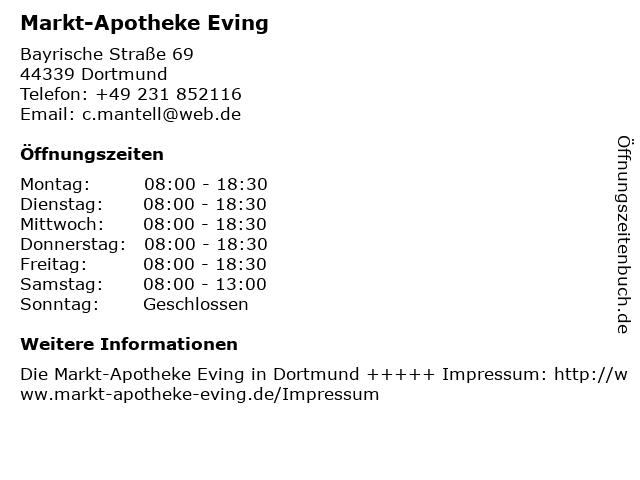 Markt-Apotheke Eving in Dortmund: Adresse und Öffnungszeiten