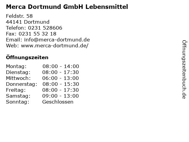 Merca Dortmund GmbH Lebensmittel in Dortmund: Adresse und Öffnungszeiten