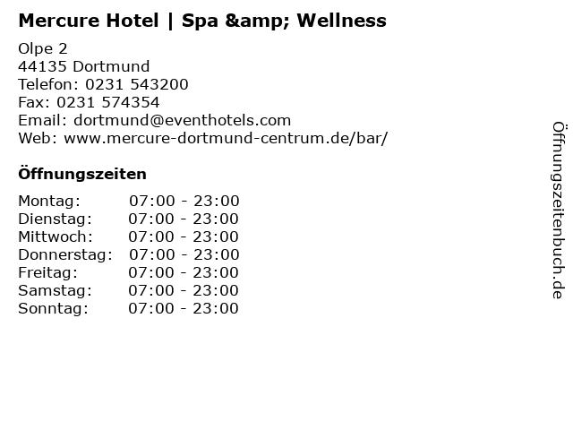 Mercure Hotel   Spa & Wellness in Dortmund: Adresse und Öffnungszeiten