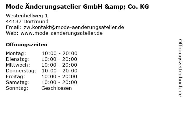 Mode Änderungsatelier GmbH & Co. KG in Dortmund: Adresse und Öffnungszeiten