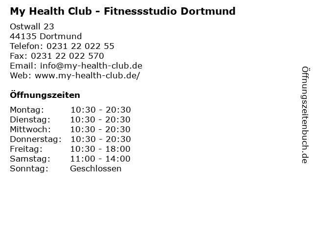 My Health Club - Fitnessstudio Dortmund in Dortmund: Adresse und Öffnungszeiten