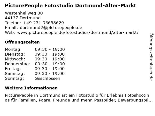 PicturePeople Fotostudio Dortmund-Alter-Markt in Dortmund: Adresse und Öffnungszeiten