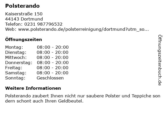 Polsterando in Dortmund: Adresse und Öffnungszeiten