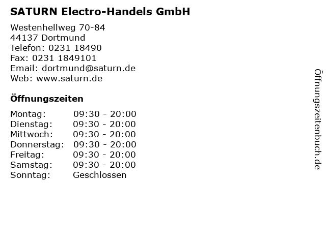 SATURN Electro-Handels GmbH in Dortmund: Adresse und Öffnungszeiten