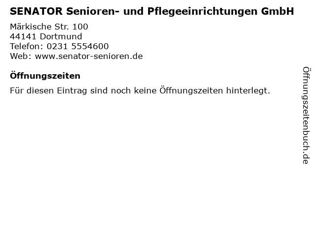 SENATOR Senioren- und Pflegeeinrichtungen GmbH in Dortmund: Adresse und Öffnungszeiten