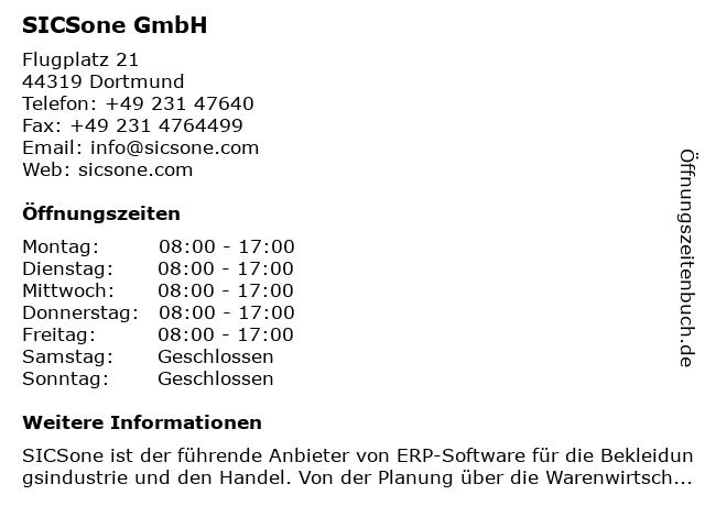 SICSone GmbH in Dortmund: Adresse und Öffnungszeiten