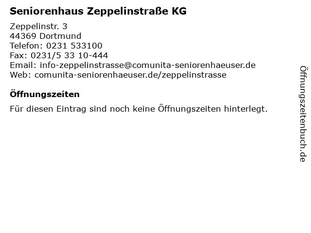 Seniorenhaus Zeppelinstraße KG in Dortmund: Adresse und Öffnungszeiten