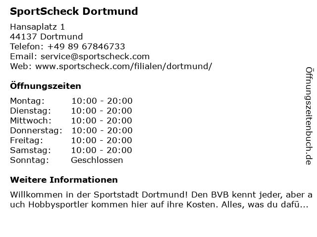SportScheck Dortmund in Dortmund: Adresse und Öffnungszeiten