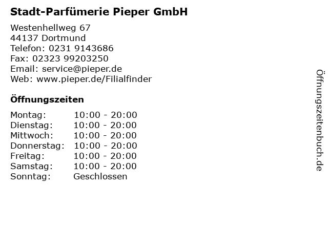 Stadt-Parfümerie Pieper GmbH in Dortmund: Adresse und Öffnungszeiten