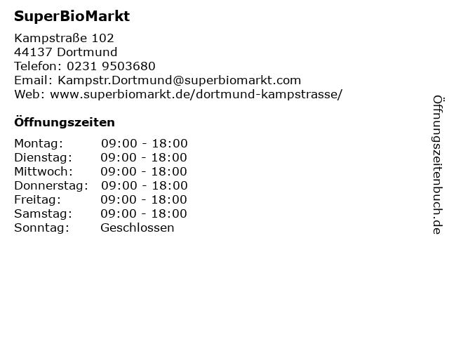 SuperBioMarkt in Dortmund: Adresse und Öffnungszeiten
