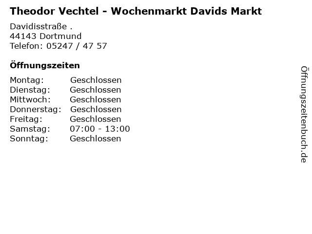 Theodor Vechtel - Wochenmarkt Davids Markt in Dortmund: Adresse und Öffnungszeiten