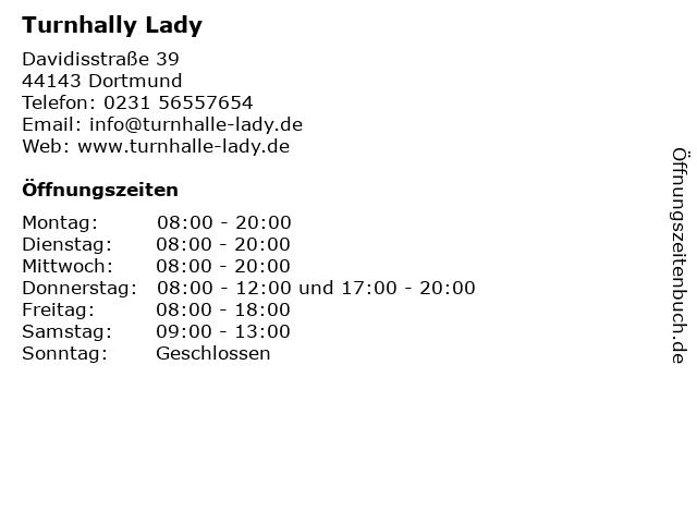 Turnhally Lady in Dortmund: Adresse und Öffnungszeiten