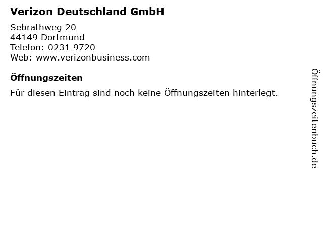 Verizon Deutschland GmbH in Dortmund: Adresse und Öffnungszeiten