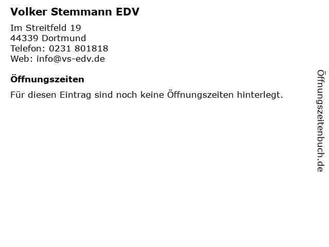Volker Stemmann EDV in Dortmund: Adresse und Öffnungszeiten